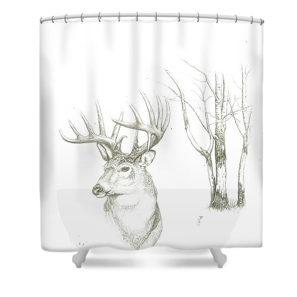 The Gray Ghost Shower Curtain