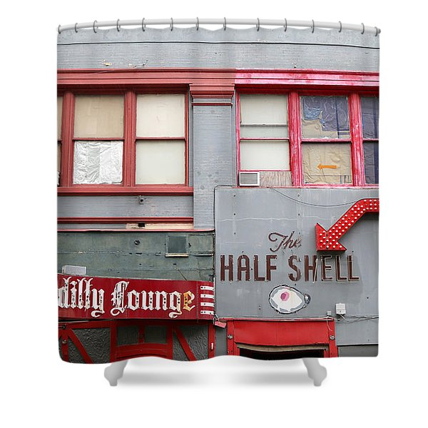 The Half Shell Piccadilly Lounge Shower Curtain