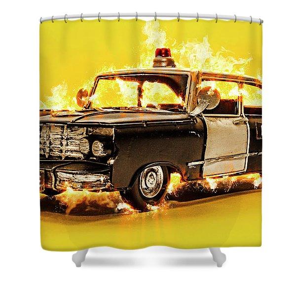 The Heat Shower Curtain