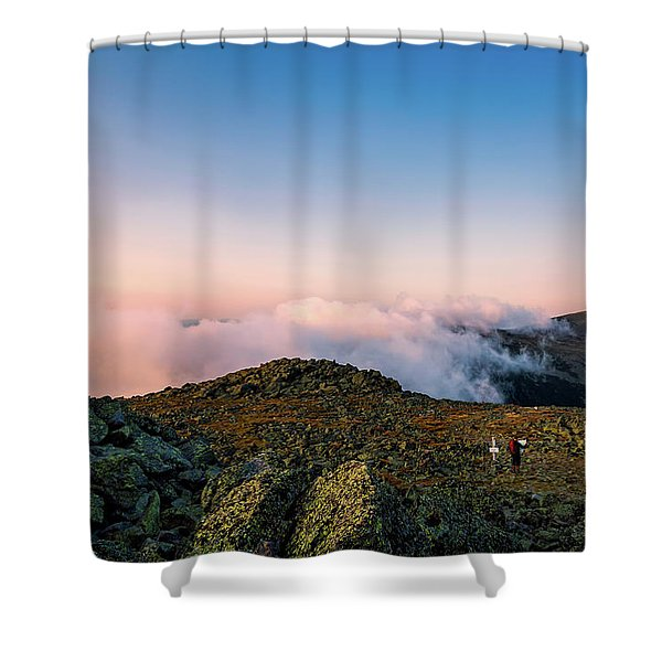 The Hiker - Mt Jefferson, Nh Shower Curtain