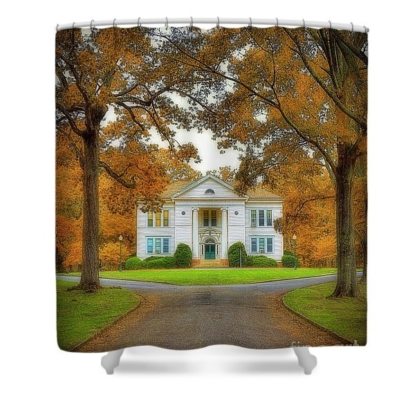 The Hoge Building At Berry College Shower Curtain