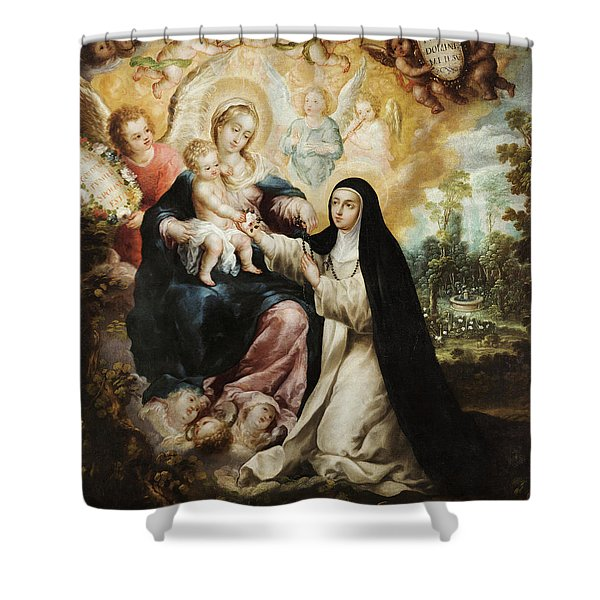 The Mystic Betrothal Of Saint Rose Of Lima Shower Curtain