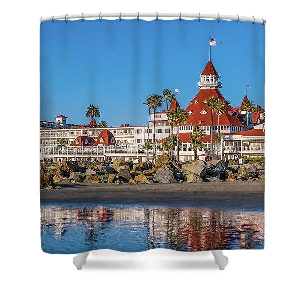 The Hotel Del Coronado San Diego Shower Curtain