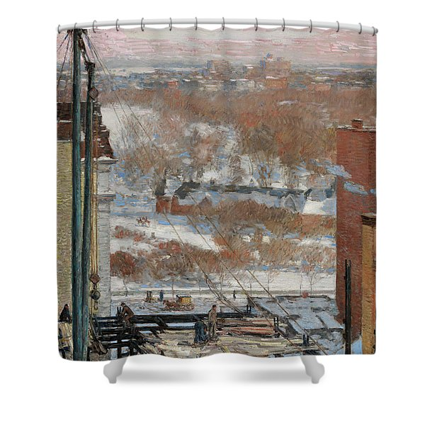 The Hovel And The Skyscraper, 1904 Shower Curtain