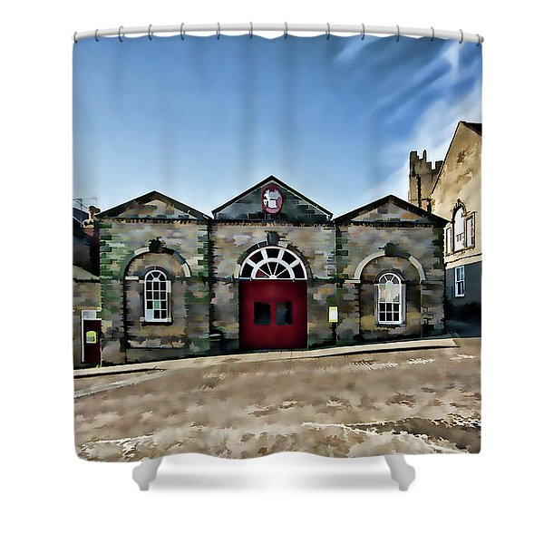 The Indoor Market Digital Painting Shower Curtain