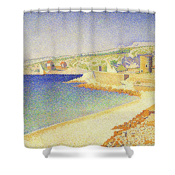 The Jetty At Cassis - Digital Remastered Edition Shower Curtain