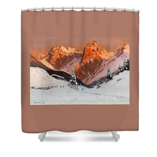 The Kaisertal In The Evening Light - Digital Remastered Edition Shower Curtain