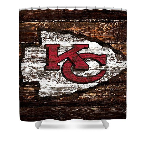 The Kansas City Chiefs 4w Shower Curtain