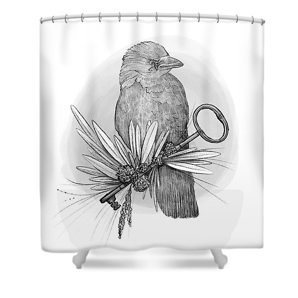 The Keeper Of The Key Shower Curtain