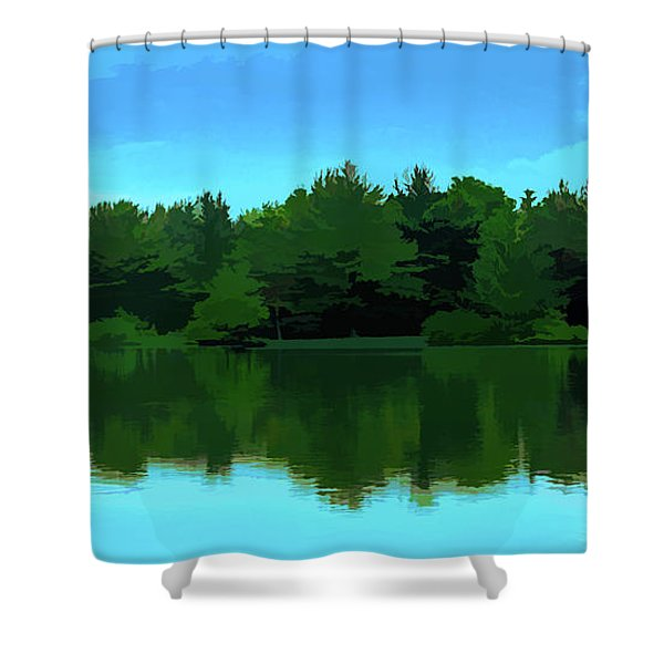 The Lake Shower Curtain
