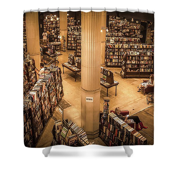 The Last Bookstore Shower Curtain