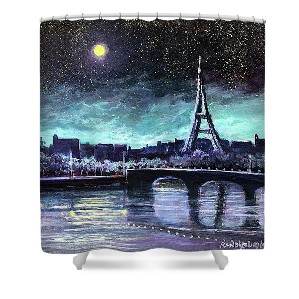 The Lights Of Paris Shower Curtain