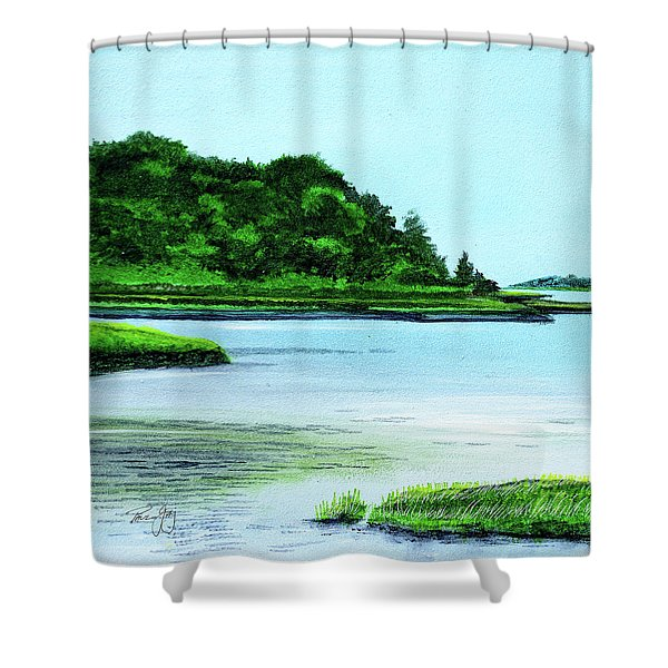 The Little River Gloucester, Ma Shower Curtain