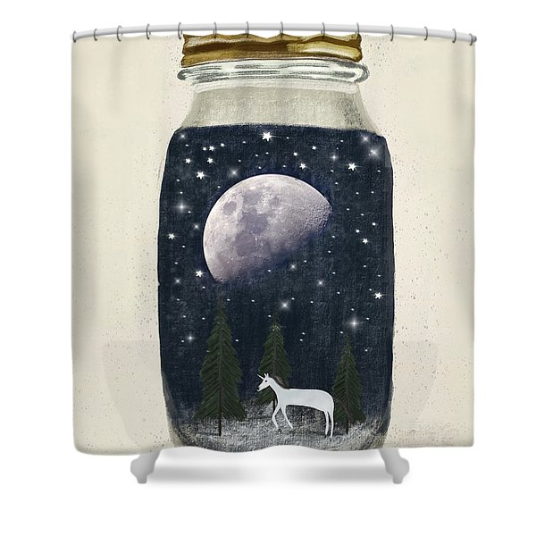 The Little Unicorn Shower Curtain
