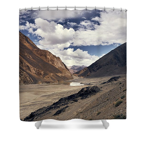 Shower Curtain featuring the photograph The Long Journey by Whitney Goodey