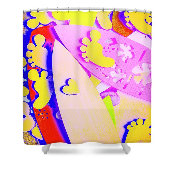 The Love Wave Shower Curtain
