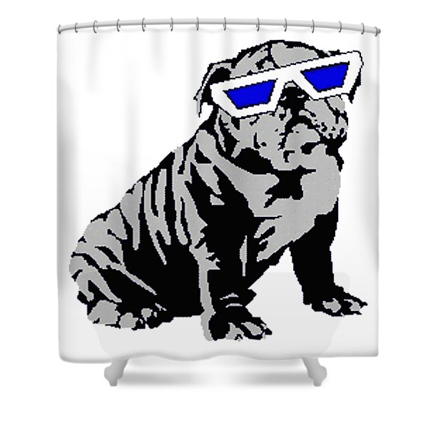 The Lucky Puppy Shower Curtain