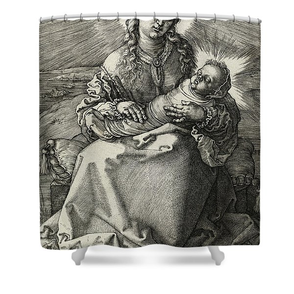 The Madonna And Child In Swaddling, 1520 Shower Curtain