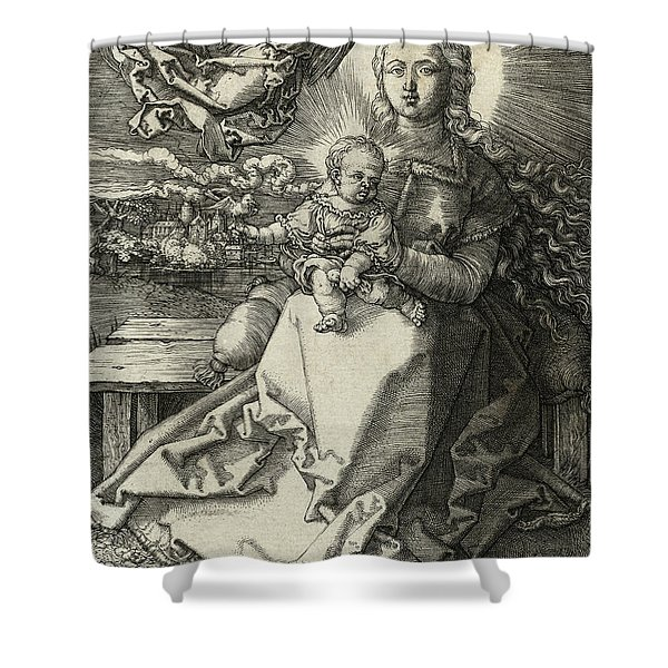 The Madonna Crowned By An Angel, 1520  Shower Curtain
