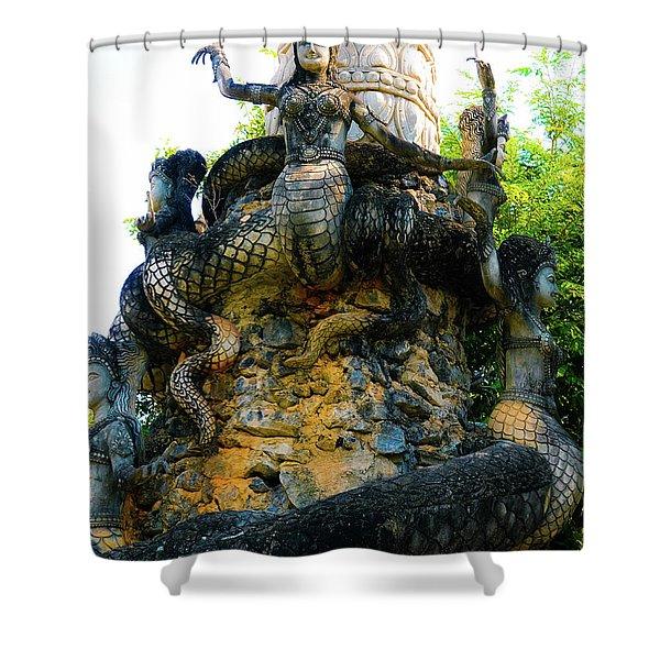 The Magic Of Sala Kaew Ku Shower Curtain