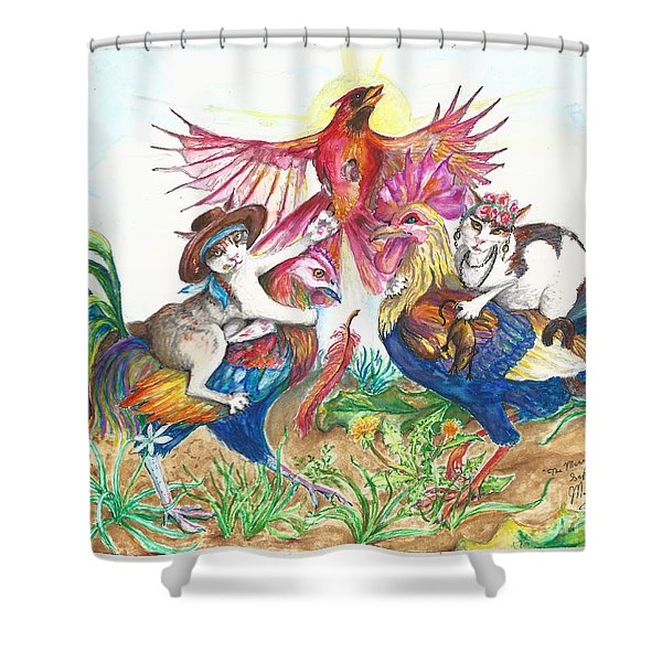 The Merry Murderesses Shower Curtain
