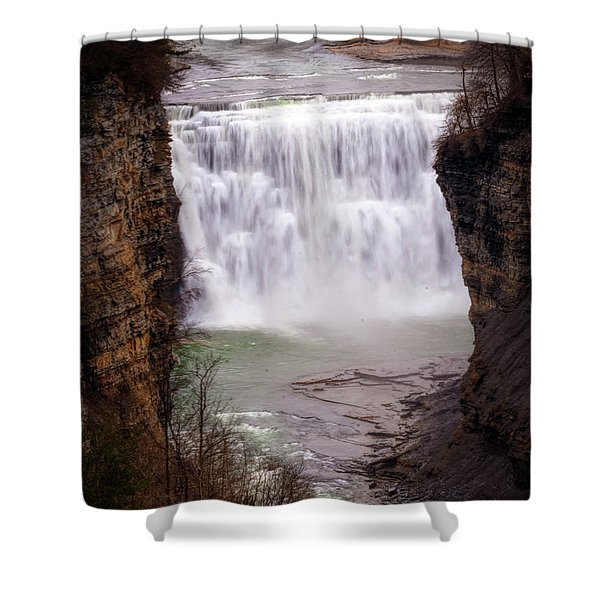 The Middle Falls Shower Curtain