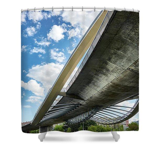 The Millennium Bridge From Below Shower Curtain