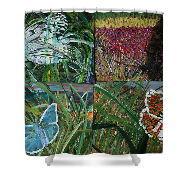 The Missing Piece Shower Curtain
