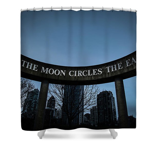 Shower Curtain featuring the photograph The Moon Circle by Juan Contreras