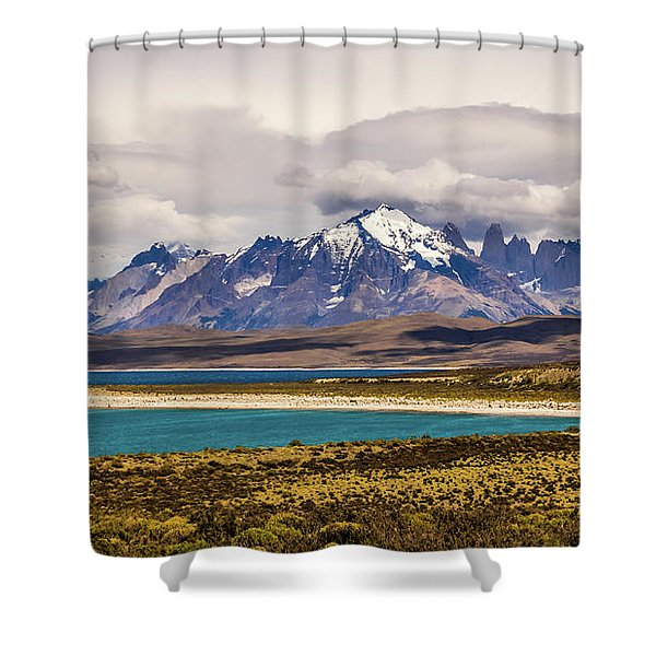 The Mountains Of Torres Del Paine National Park, Chile Shower Curtain