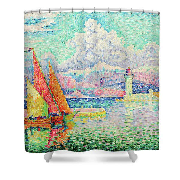 The Musior, Port Of Antibes - Digital Remastered Edition Shower Curtain