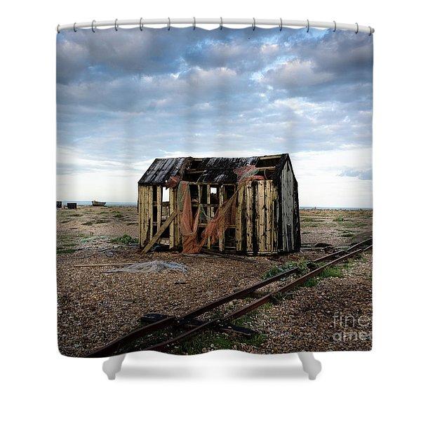 The Net Shack, Dungeness Beach Shower Curtain