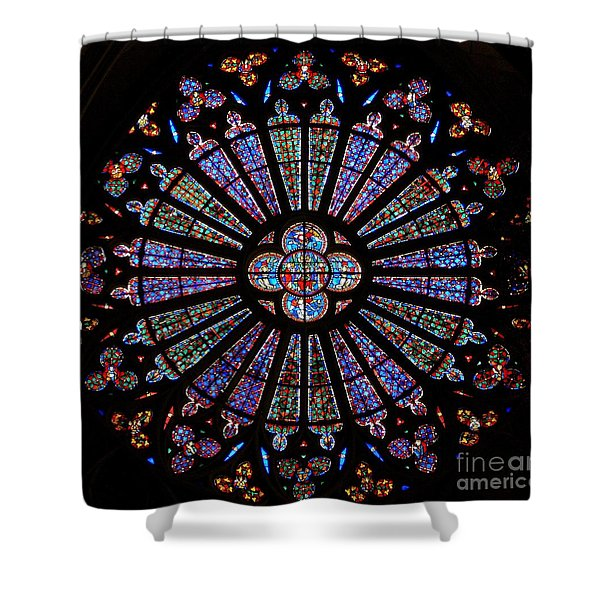 The North Rose Window, Stained Glass Shower Curtain