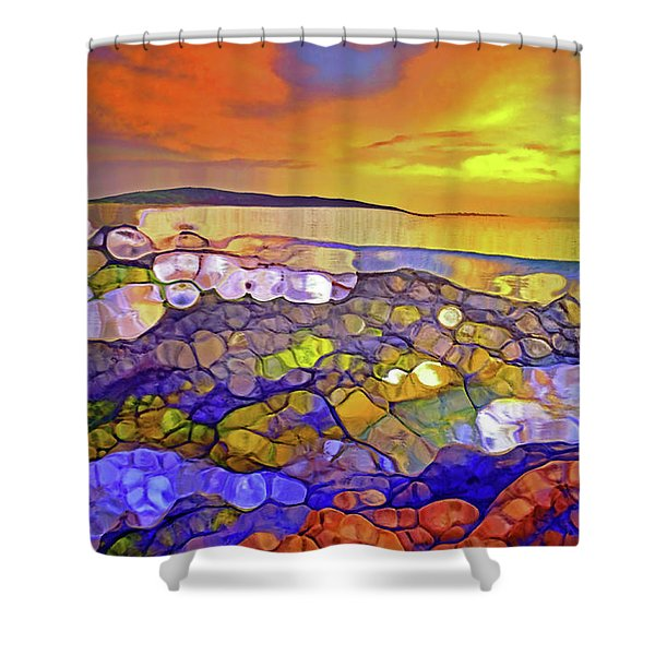 The Ocean Moves Inside Of Us Shower Curtain