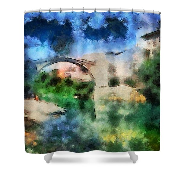 The Old Bridge Of Shari Most Shower Curtain