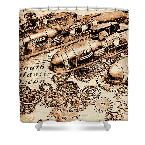 The Old Naval War Room Shower Curtain