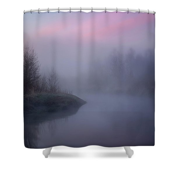 The Old River Shower Curtain