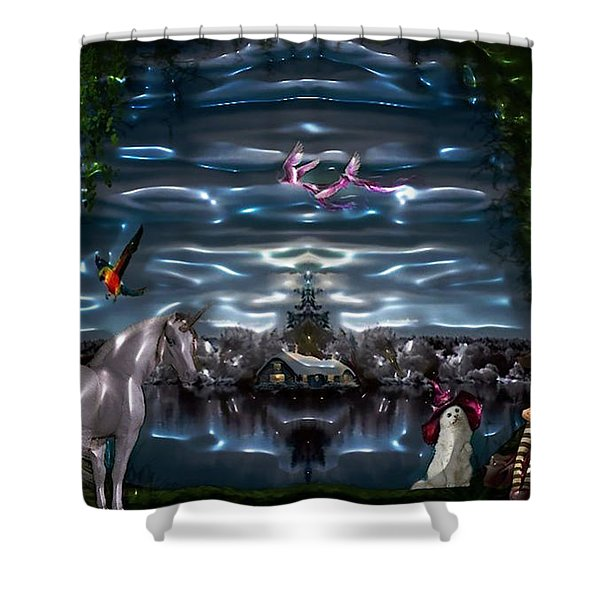 The Other Side Shower Curtain
