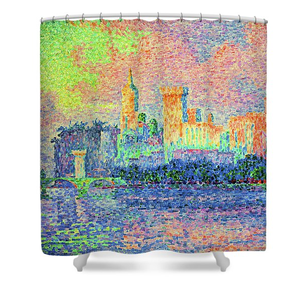 The Papal Palace, Avignon - Digital Remastered Edition Shower Curtain