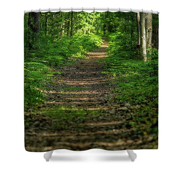 Shower Curtain featuring the photograph The Path Less Traveled by Heather Kenward