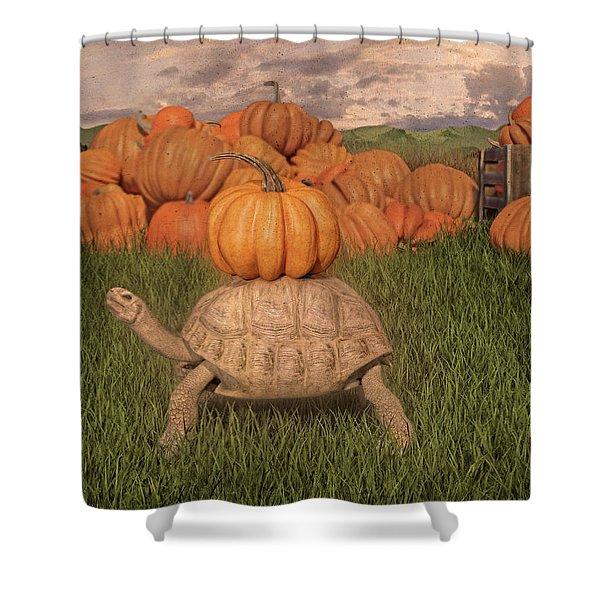 The Perfect Pumpkin Shower Curtain