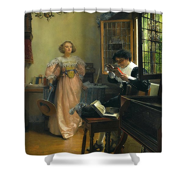 The Persistent Reader Shower Curtain