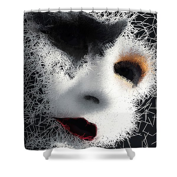 Shower Curtain featuring the digital art The Phantom Of The Arts by ISAW Company