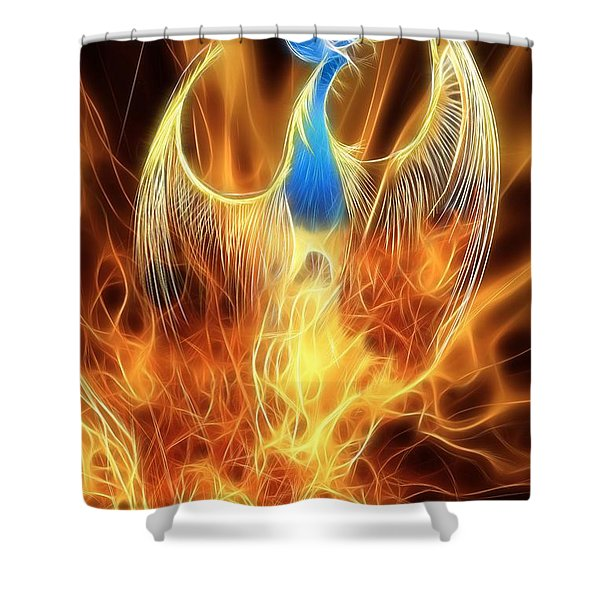 The Phoenix Rises From The Ashes Shower Curtain