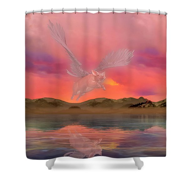 The Pig Who Could Shower Curtain