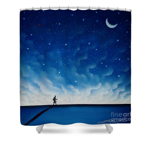 The Pilgrim Shower Curtain