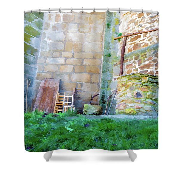 The Pit Shower Curtain