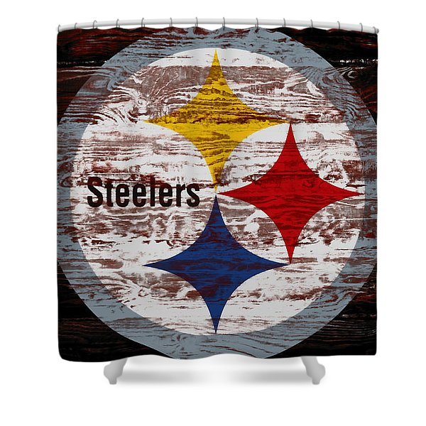 The Pittsburgh Steelers 5f Shower Curtain
