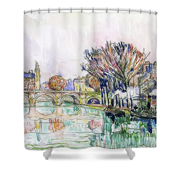 The Pont Neuf, Paris - Digital Remastered Edition Shower Curtain