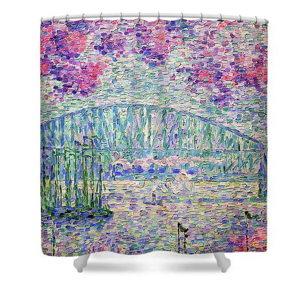 The Port Of Rotterdam, 1907 - Digital Remastered Edition Shower Curtain